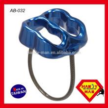 Компания AB-032 УВД кованые алюминиевые Страховочное устройство для сортировки по убыванию, по возрастанию Альпинизм двойной Слот