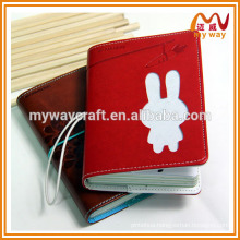 Portable animal leather custom notebook, school notebook, cute stationery