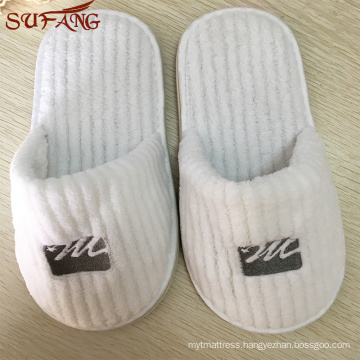 Disposible hotel used unisex slipper with length 11 inch