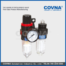 China AFC series Aluminium Pneumatic Air Filter Regulator Lubricator Combination with two union