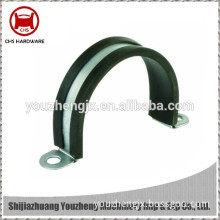 China Supplier Galvanized Steel C Clamp with rubber