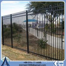 Breite 2400mm Stahl Garnison Zaun