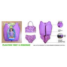 2-4 Year Olds Lycra Kids Swim Float Suit Swimwear With Flat-lock In Whole Garment Swim
