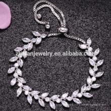 Unique AAA shinning cz pierre bijoux en cuivre bracelet
