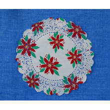Round pinted doily 10inch