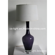 Modern Purple Color Glass Table Lamp