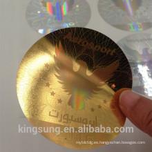 venta al por mayor 3D pegatinas de encargo del holograma para el coche