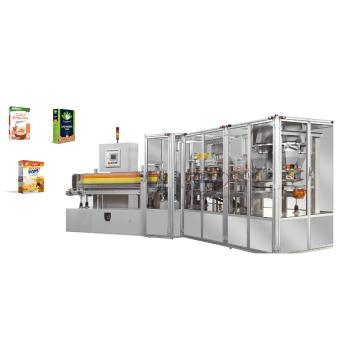 Автоматическая вертикальная картонажная машина для порошков и гранул