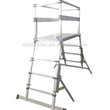 safety folding telescopic scaffolding tower with EN131 certificate