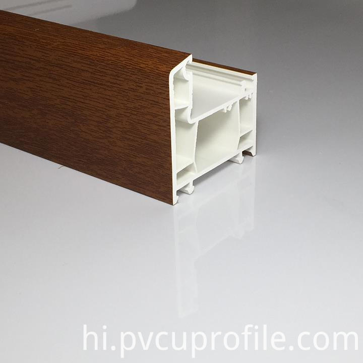 60mm laminated pvc profile11