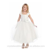 Children Wedding 2-12 Years Old Fashionable girls Birthday Long Ball Gown Flower Girl Dresses Pattern Kids Party Wear LF05