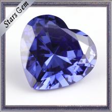 Tanzanite Blue Heart Shape Cubic Zirocnia CZ Gemstone