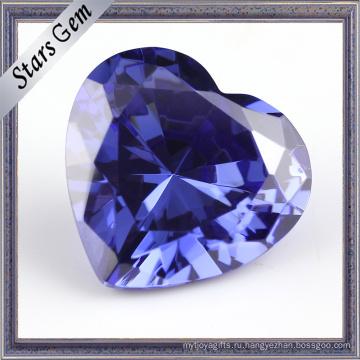 Танзанит Синее Сердце Форма Кубический Zirocnia CZ Камень