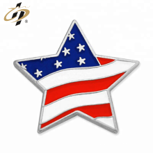 Factory cheap custom silver star enamel pins