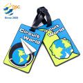 Customized Logo Promotion Soft PVC Travel Luggage Tag Strap