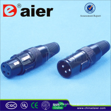 Hot selling 3 Pin XLR Electrical Connector, Electrical Pin Connector;