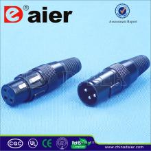 Горячий продавать 3-Контактный XLR-Разъем Электрический, Соединитель Электрический Контактный;