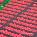 embossage silicone QingYi haute qualité personnalisé fer sur les vêtements autocollant