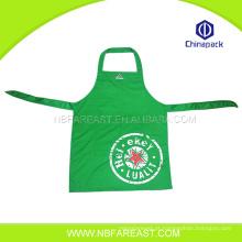 Solid verde atacado ningbo cozinha barata aventais