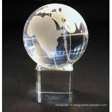 Boule de cristal avec base pour cadeaux et artisanat de Noël (JD-SJQ-033)