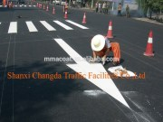 thermoplastic building coating for road marking