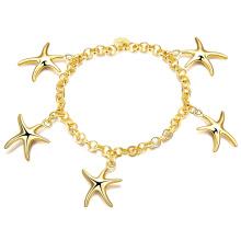 Star Charm Bracelet Mulheres Pulseira de charme de ouro
