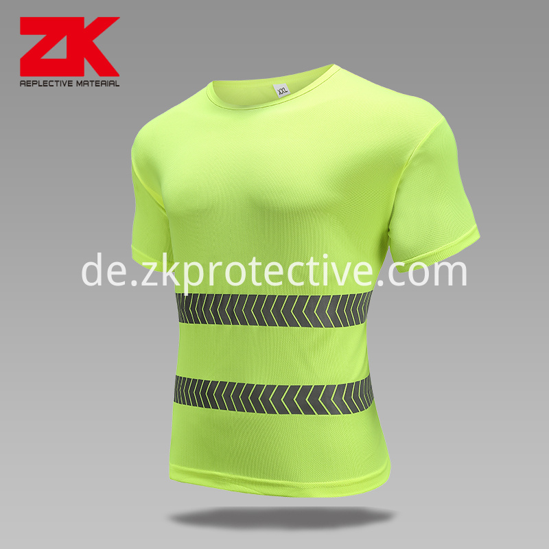 Safety Reflecitve Running T Shirt