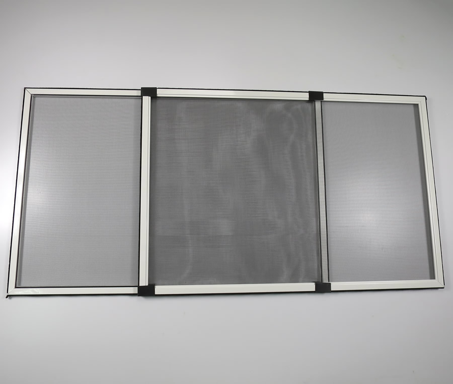 Adjustable window screens with fiberglass net