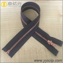 No.5 Open End Rose Glod Metal Zipper