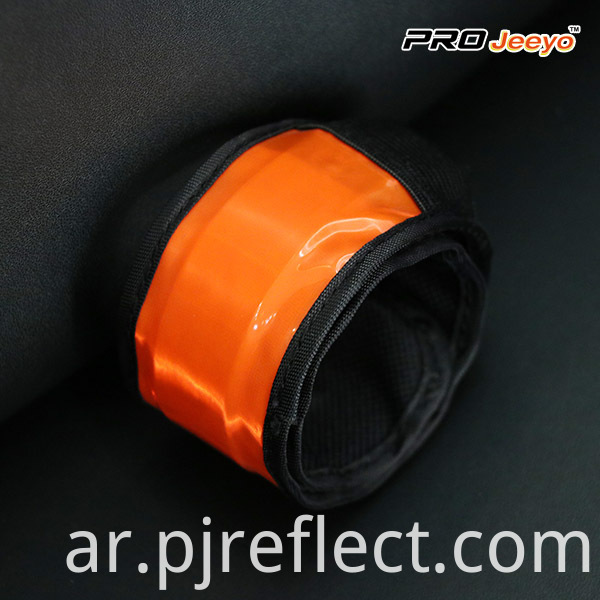 Safety Fluo Orange PVC Slap BraceletWB-JG004