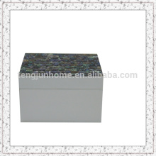 Paua Shell Storage Box with White Paint Smallest size