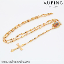 42338 Xuping Jewelry Fashion 18K Plaqué Or Croix Collier avec Croix Pendentif