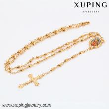 42338 jóias xuping moda 18k banhado a ouro colar cruz com pingente de cruz