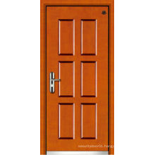 Wood armored door with modern designs