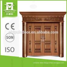 2016 imitation copper double leaf steel door from Yongkang
