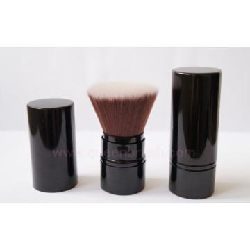 Pinceau Kabuki rétractable à cheveux en nylon synthétique de qualité excellente