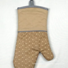Non slip print silicone cotton professional pattern custom cotton oven mitt for kitchen