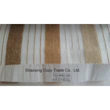 Новый популярный проект полоса Organza Voile Sheer Curtain Fabric 0082127