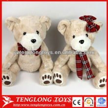 New design stuffed couple plush teddy bear for Valentines day