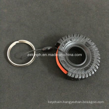 3D Rubber Car Tire Shape Keyring for Car Promotional Gift