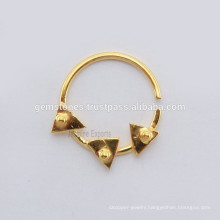 Ethnic Septum Nose Ring Jewelry, Handmade Best Design Indian Nose Ring Jewelry Manufacturer