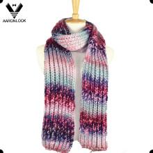 Женщины Красочный Мода Вязание Теплый шарф Сделано в Китае
