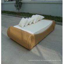 Jardín de aluminio y muebles cama solar tela Chaise Lounge