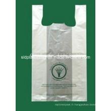 HDPE Whitte T-Shirt Sac à provisions en plastique