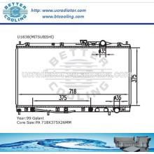Radiador de agua para Mitsubishi Galant 99 OEM: MR126088 / MR126089 / MR127903 / MR127904