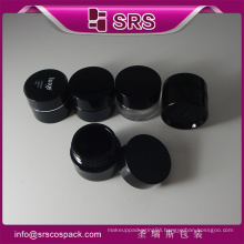Acrylic black Plastic Cosmetics Containers,cosmetic jars black 5g for personal care and wholesale airless jar cosmetic container