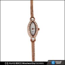 stone bezel vogue women watch alloy bracelet