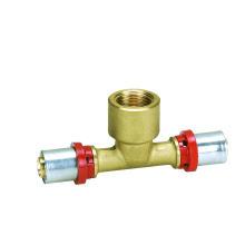 Тройник (пресс-фитинг) (Hz8501) пластик (ПЭ-ал-ПЭ рех-ал-рех) трубы фитинги
