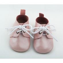 Bringht zapatos de cuero genuino zapatos de bebé único suave Oxford zapatos