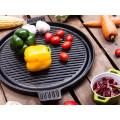 Panelas de pratos pré-temperados de metal - grelhadores